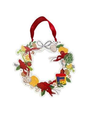 Crawfish Seasoning Wreath Door Hanger