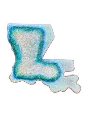 Ceramic Louisiana Coaster, Assorted