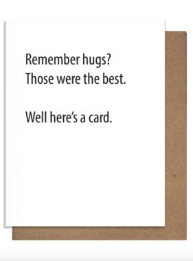 Remember Hugs? Card