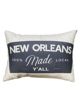 New Orleans Made Local Y'all Pillow