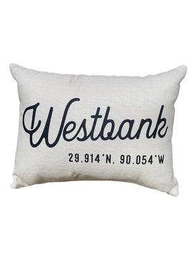 Westbank Coordinates Pillow