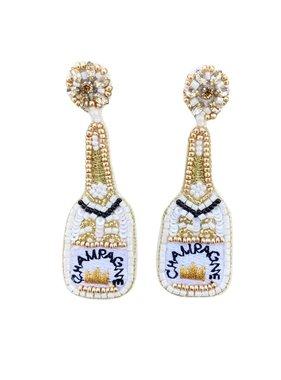 Champagne Bottle Bling Earrings
