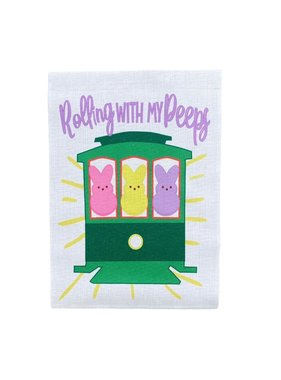Rolling with my Peeps Garden Flag