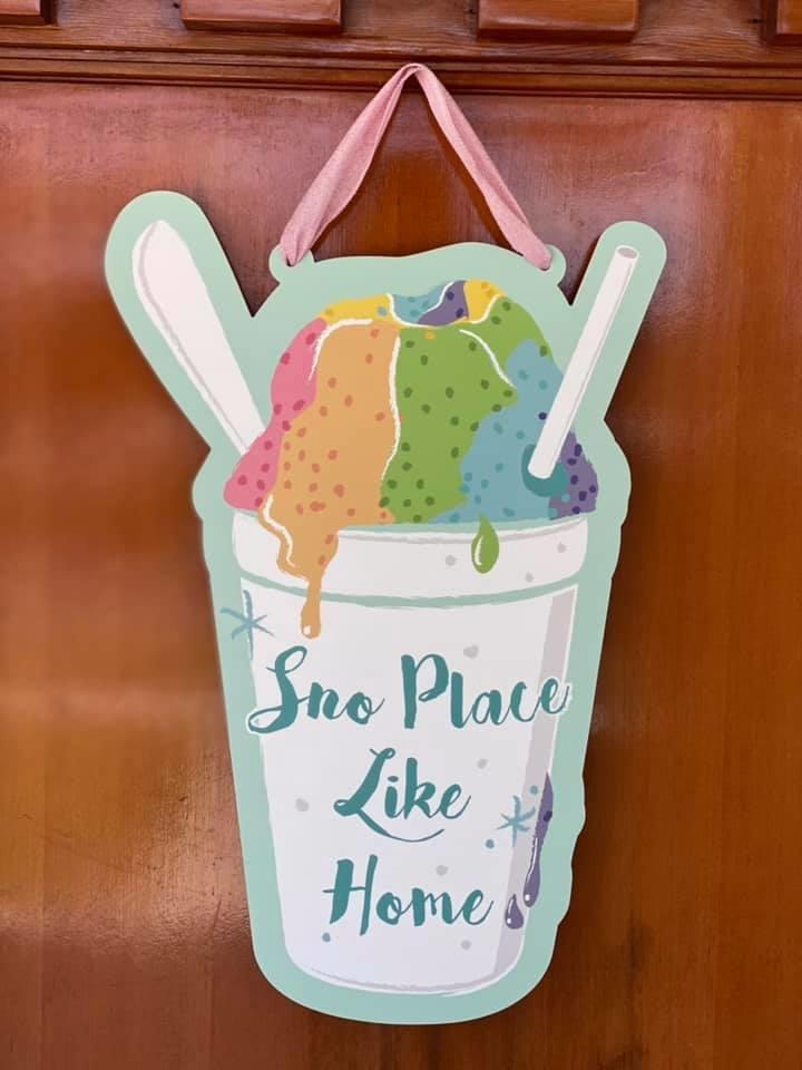 Sno Place Like Home Door Hanger