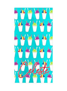 Custom Snoball Beach Towel