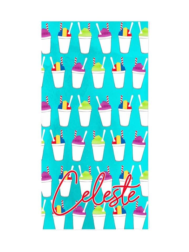 Custom Snoball Beach Towel