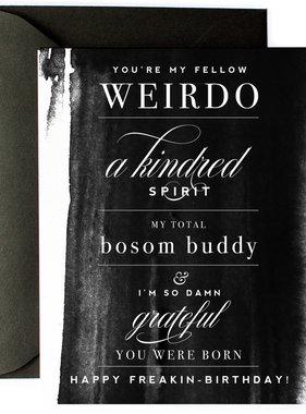 Bosom Buddy Birthday Card