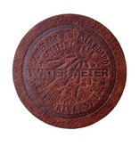 Water Meter Coaster, Leather