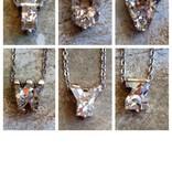 Rhinestone Initial Necklace