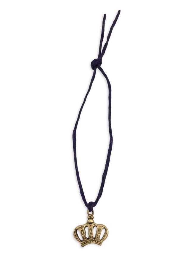 Mini Charm Bracelet, Gold Crown