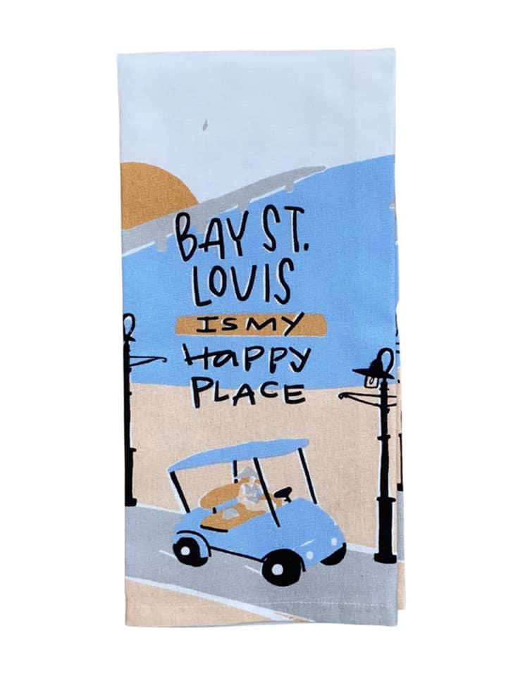 Bay St Louis is my Happy Place Towel