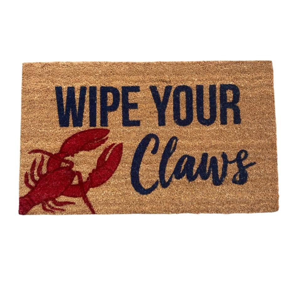 Wipe Your Claws Door Mat