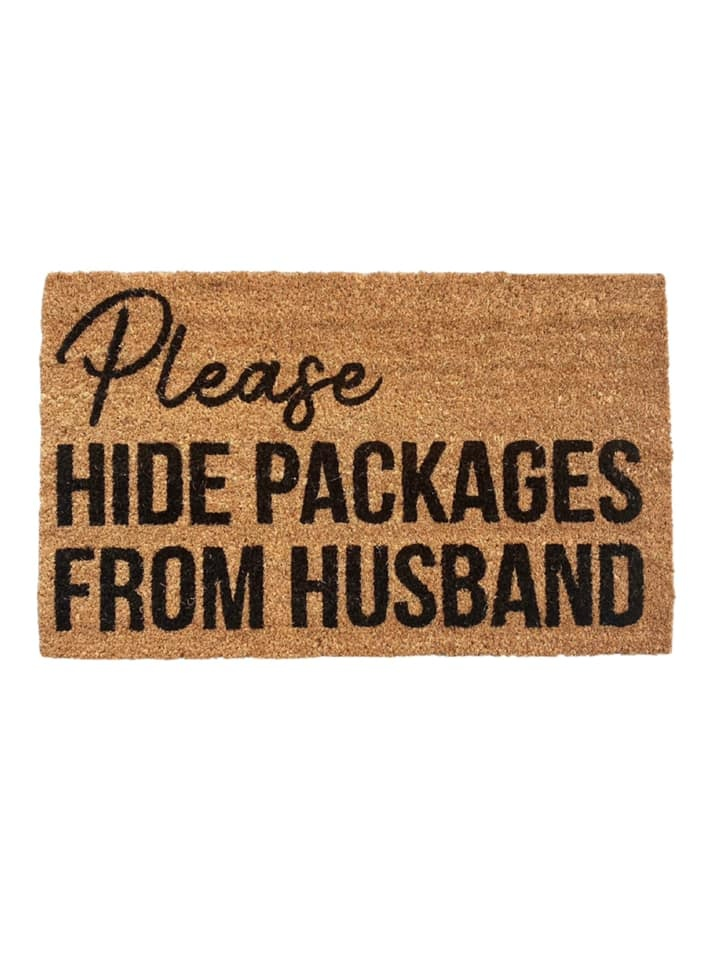 Hide the Packages Door Mat