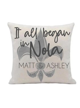 Custom It all Began in NOLA Pillow