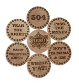Wooden Nickel Magnet Set