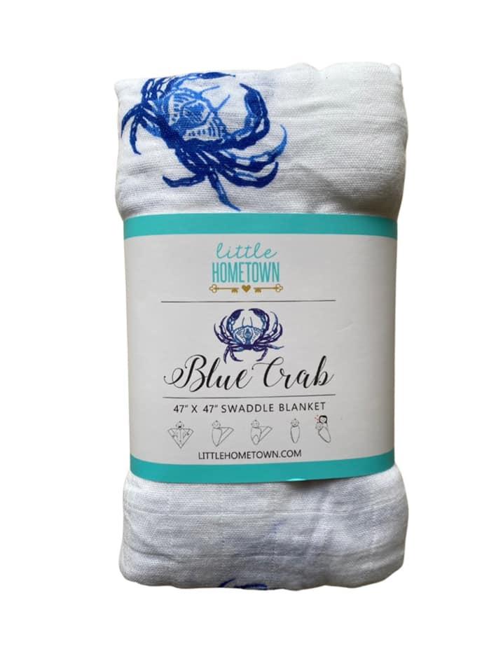 Blue Crab Swaddle Blanket