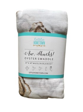 Aw Shucks Oyster Swaddle Blanket
