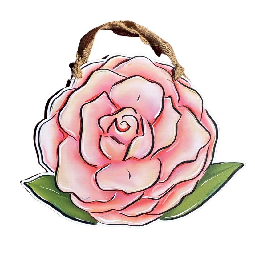 Camellia Door Hanger