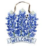 Bluebonnet Welcome Door Hanger