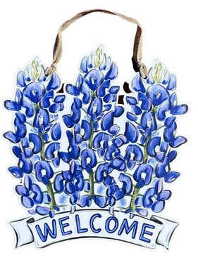 Bluebonnet Welcome Door Hanger
