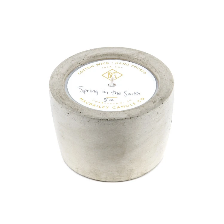 Spring in the South Concrete Candle