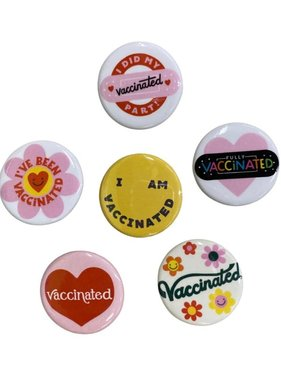 Vaccinated Button