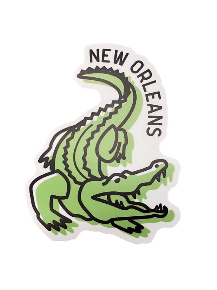 New Orleans Alligator Sticker