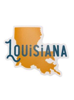 Louisiana State Name Sticker