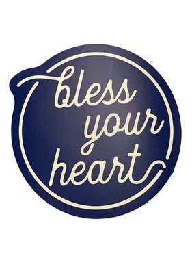 Bless Your Heart Sticker, Round