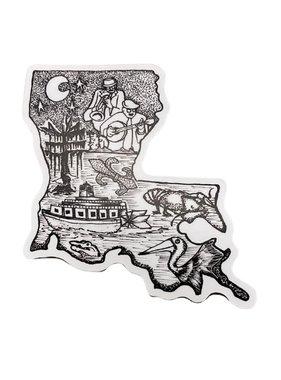 Louisiana Swamp Sticker