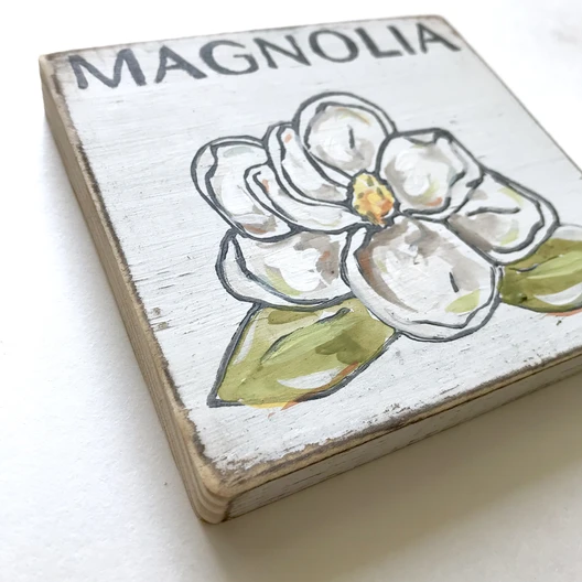 Magnolia Wood Sign