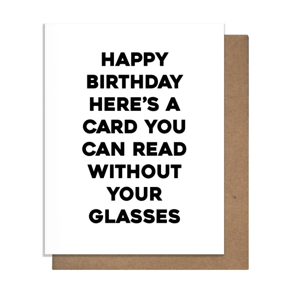 Read Without Glasses Card