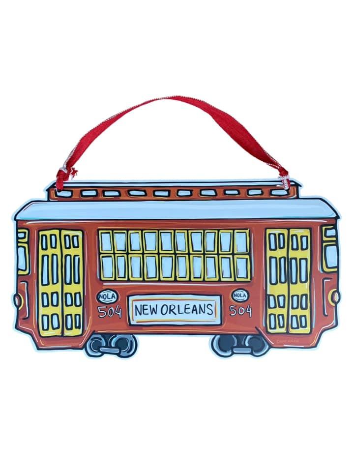 Red Streetcar Door Hanger