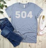 504 Tee, Heather Blue
