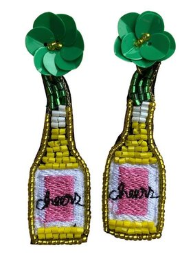 Yellow Cheers Beaded Earrings