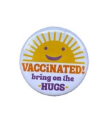 Vaccinated Hugs Button