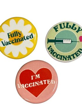 Fleurty Girl Exclusive Vaccinated Button