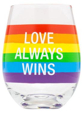 Love Always Wins Wine Glass