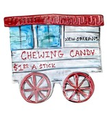 Chewing Candy Cart Ceramic Plaque