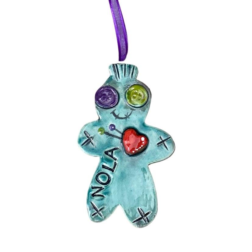 Voodoo Doll Ceramic Ornament
