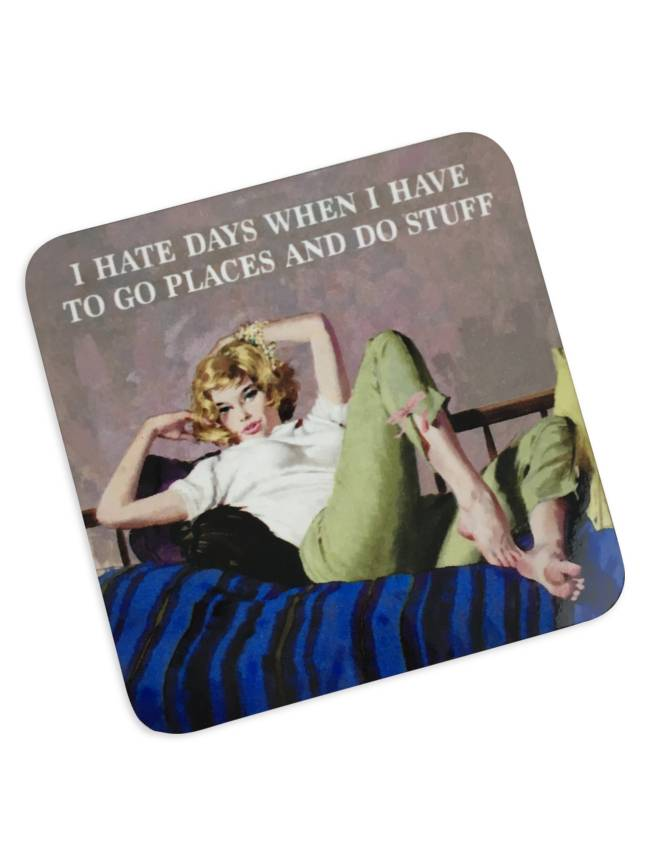 Hate Days Cork Coaster