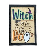 Witch Way to the Boos Garden Flag
