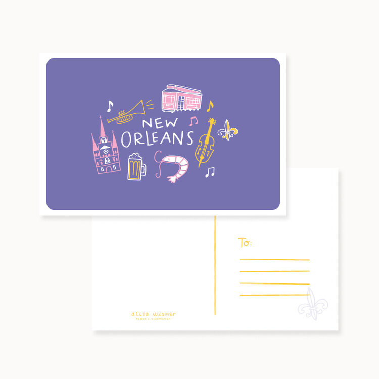New Orleans Icon Postcard