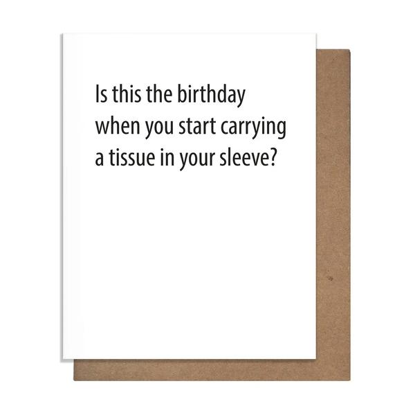 Tissue Birthday Card