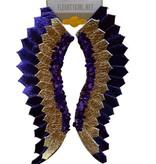 Purple & Gold Glitter Wing Earrings
