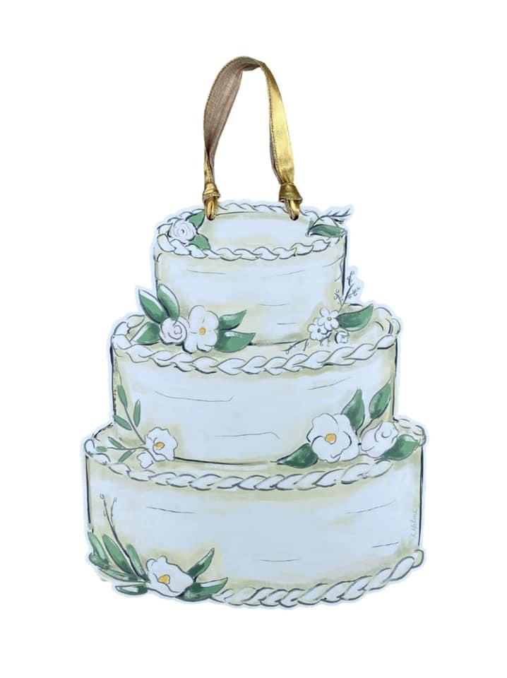 Wedding Cake Door Hanger