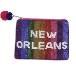 New Orleans Pride Beaded Pouch