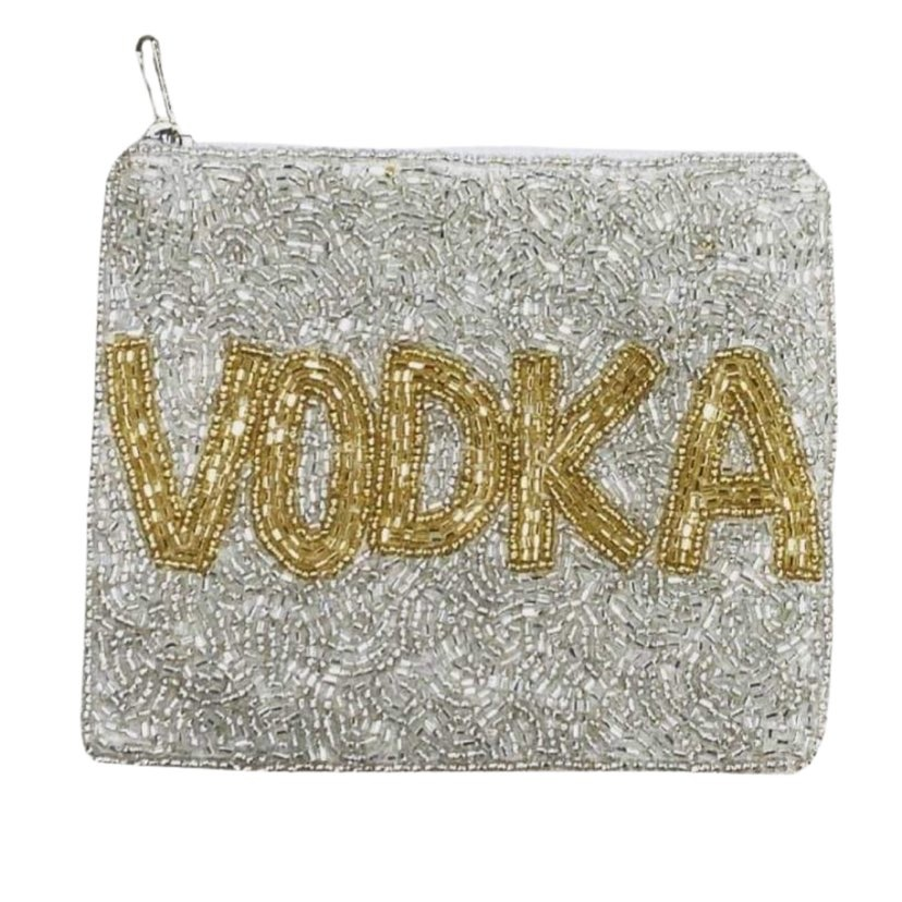 Vodka Beaded Pouch
