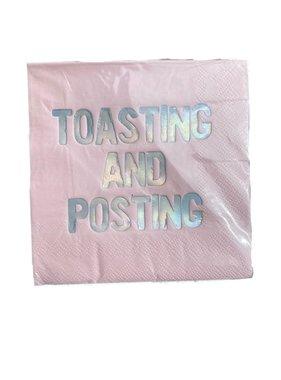 Toasting and Posting Napkin