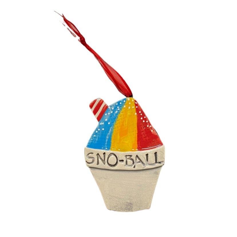 Snoball Ceramic Ornament